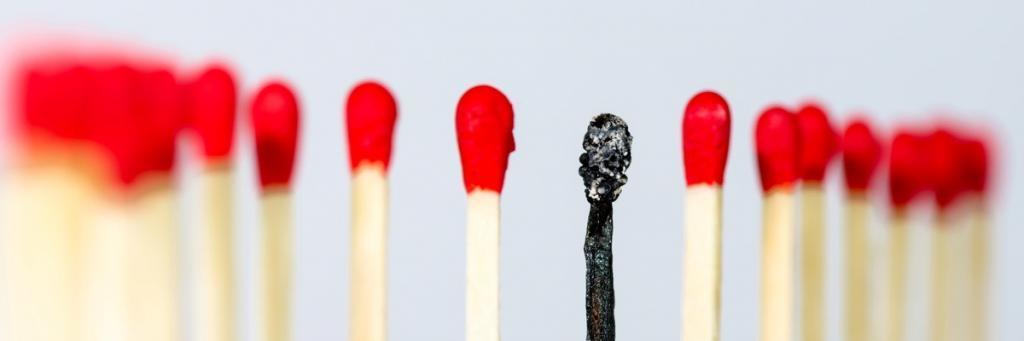 burnout ausgebrannt
