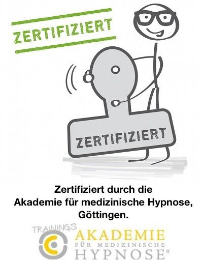 zert. durch Akademie für medizinische Hypnose, Göttingen